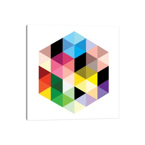 """iCanvas """"Modern Art- Cuboids lll"""" by 5by5collective Canvas Print"""