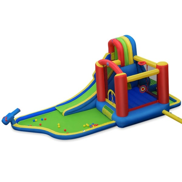 Inflatable Kid Bounce House Castle with Blower - Multi. Opens flyout.