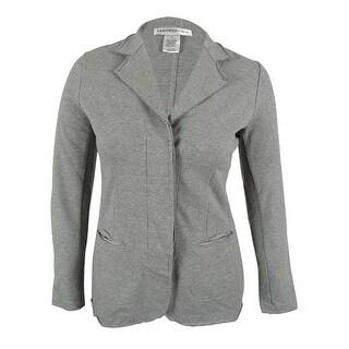 Women's Raw Edge Unstructured Casual Blazer Jacket