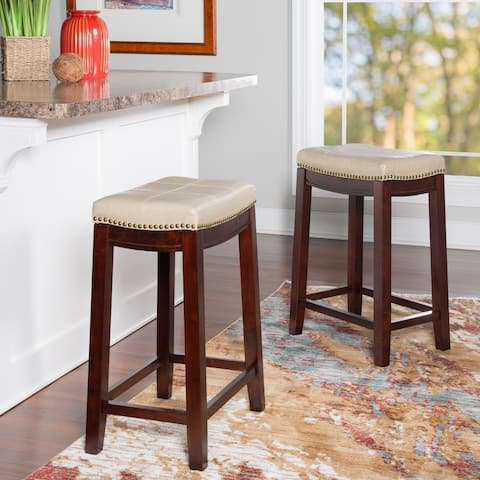 Copper Grove Ghindesti Backless Saddle-seat Counter Stool