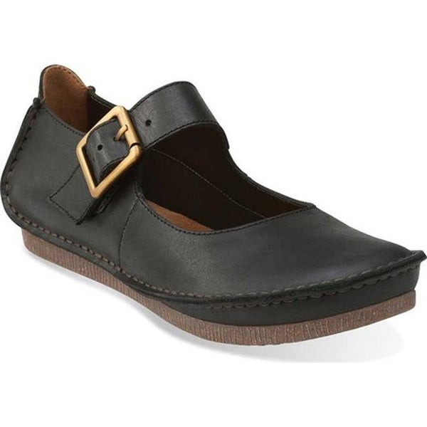 6fb918a969d Shop Clarks Women s Janey June Mary Jane Black Leather - Free ...