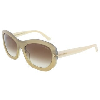 Tom Ford FT0382/S 34F Amy Beige Pearl Rectangle Sunglasses