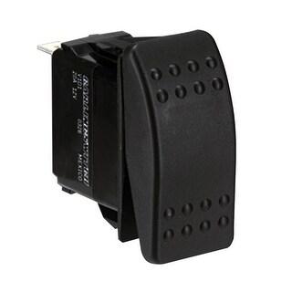 Paneltronics DPDT ON/OFF/ON Waterproof Contura Rocker Switch w/LEDs-Black - 001-699