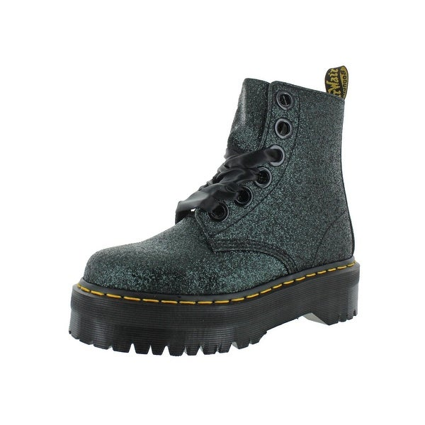 e824c9a8a5 Shop Dr. Martens Womens Molly Glitter Combat Boots Casual Ankle ...