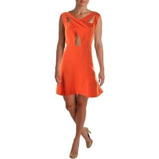 JOA Womens Crossover Sleeveless Cocktail Dress