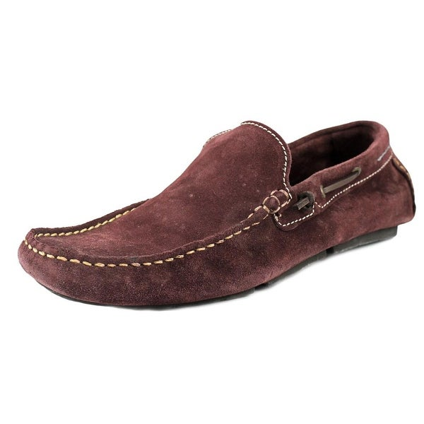 Aldo Maelmore Men Moc Toe Suede Burgundy Loafer