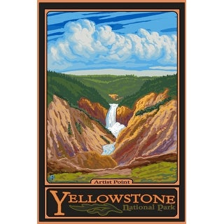 Yellowstone National Park, Wyoming - Artist Point - Lantern Press Artwork (Keepsake Tin)