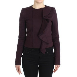 GF Ferre GF Ferre Purple Ruched Jacket Coat Blazer Short