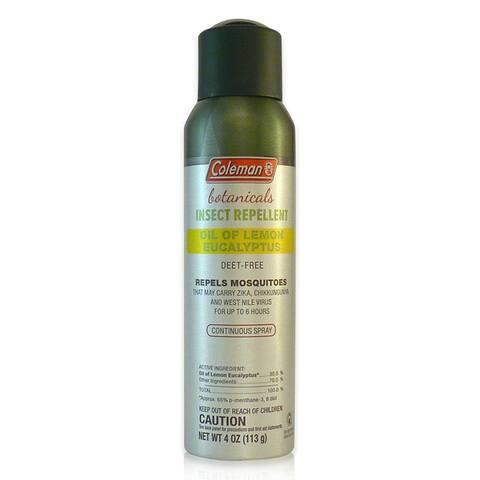 Coleman 7734 Botanicals Insect Repellent Spray w/Oil of Lemon Eucalyptus, 4 Oz