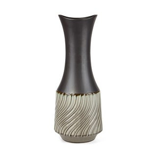IMAX Home 64366  Catalina Large Ceramic Vase - Bronze