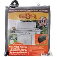 Mr. Bar.B.Q 07004XEF Mr. Bar.B.Q Premium Medium Gas Grill Cover - Supports Grill - Black Color - 1