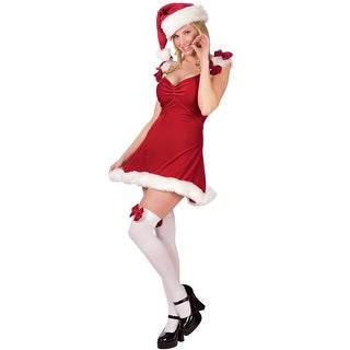 Fun World Sexy Santa Helper Adult Costume - Red