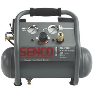 Senco PC1010N Air Compressor With Control Panel, 1 Gallon, 0.5 Hp