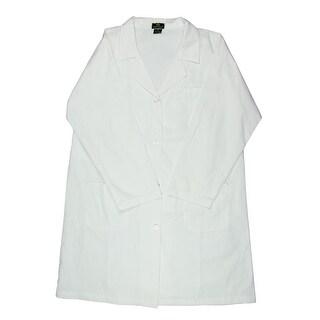 Natural Uniforms Womens Plus Lab Coat Long Button-Front - 3x