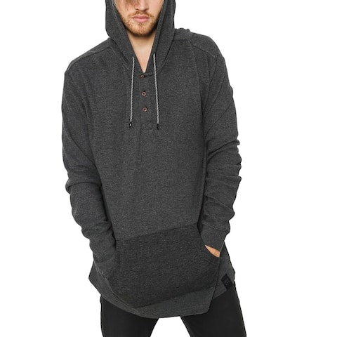 Quiksilver Mens Gray Size XL Drawstring Modern Fit Hooded Sweater