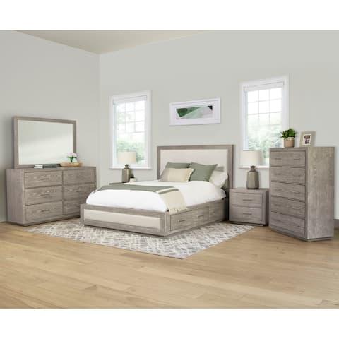 Abbyson Canterbury Wood Storage 6 Piece Bedroom Set