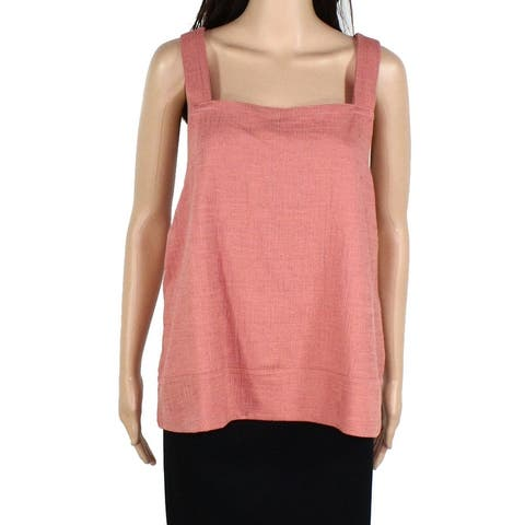 Madewell Womens Blouse Rosewood Pink Size Large L Square Neck Tank