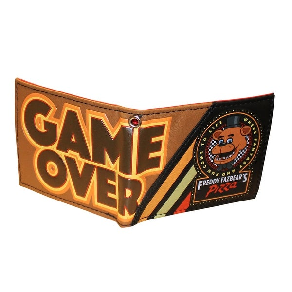 5 Nights at Freddy's Game Over Bifold Wallet - Brown