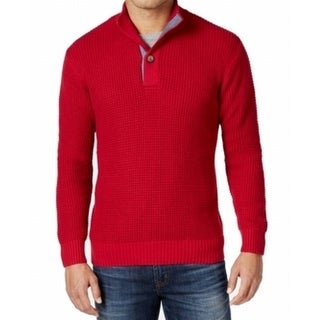 Weatherproof NEW Red Mens Size XL Knitted Mock Neck Pull-Over Sweater
