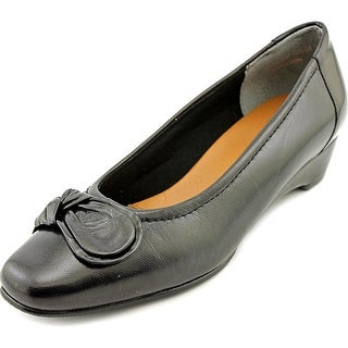 Mark Lemp By Walking Cradles Bean Women W Square Toe Leather Black Flats
