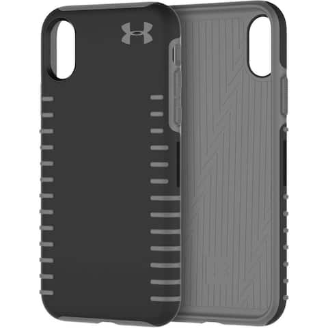 Under Armour Grip Series Hybrid Hard Case for iPhone Xs / iPhone X - Black/Gray