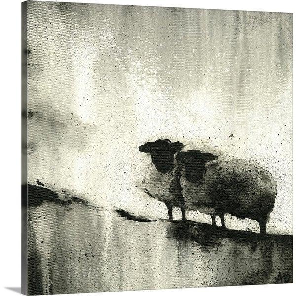 """BW Sheep"" Canvas Wall Art"
