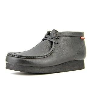 Clarks Stinson Hi Men  Moc Toe Leather Black Chukka Boot