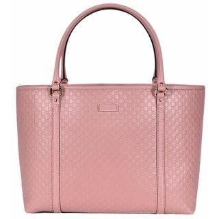 Gucci 449647 Soft Pink Leather Micro Gg Guccissima Joy Purse Handbag Tote 16 X