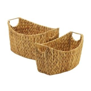 Natural Water Hyacinth Oblong Baskets