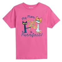 Pete The Cat My Mom Is Purrfect! - Youth Short Sleeve Tee