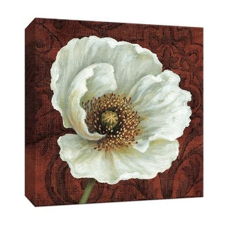 "PTM Images 9-152437  PTM Canvas Collection 12"" x 12"" - ""Applique Spice I"" Giclee Flowers Art Print on Canvas"