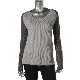 Theory Womens Tarledia TM Cashmere Heathered Pullover Sweater - S