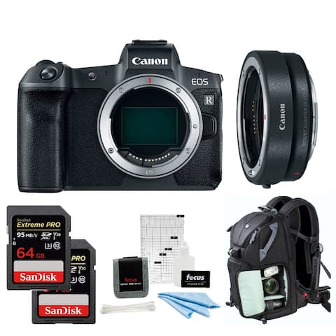 Canon EOS R Full-Frame Mirrorless Camera Body with Adapter EF-EOS R Kit