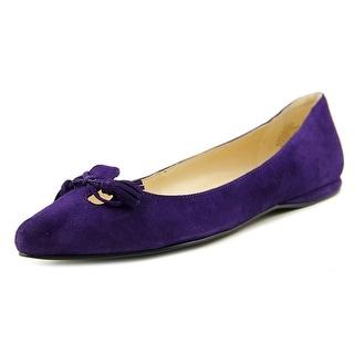 Nine West Simily Women Cap Toe Suede Purple Flats