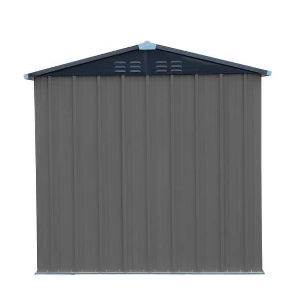 Metal Garden Storage Unit Shed Outdoor Bike Tools Patio 6 X 4Ft Lockable Doors