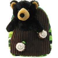 Kreative Kids Unisex Black Bear Plush Backpack - One Size