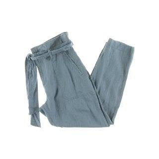 Lauren Ralph Lauren Womens Casual Pants Linen High Rise