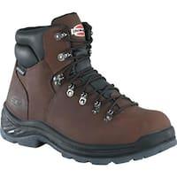 "Iron Age Men's Tiller 6"" Plain Toe Waterproof Hiker Brown Leather"
