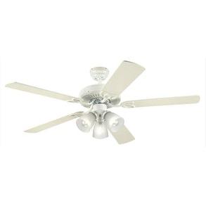 "Westinghouse 78627-6548 Vintage Reversible Five-Blade Ceiling Fan, 52"""