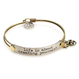 Women's Inspirational Message Brass Bracelet With Charms - Life Is About|https://ak1.ostkcdn.com/images/products/is/images/direct/44846fb1c1dbb3b4142686ec944dda4aaa859585/Women%27s-Inspirational-Message-Brass-Bracelet-With-Charms---Life-Is-About.jpg?impolicy=medium