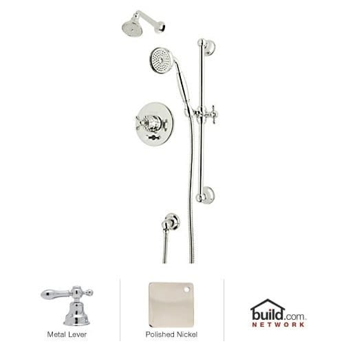 Rohl ACKIT28EL Arcana Shower System With Valve Trim, Single Function Shower  Head, Hand Shower