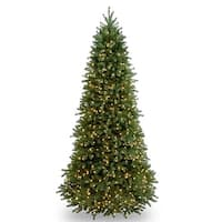 9 ft. Jersey Fraser Fir Slim Tree with Clear Lights - green