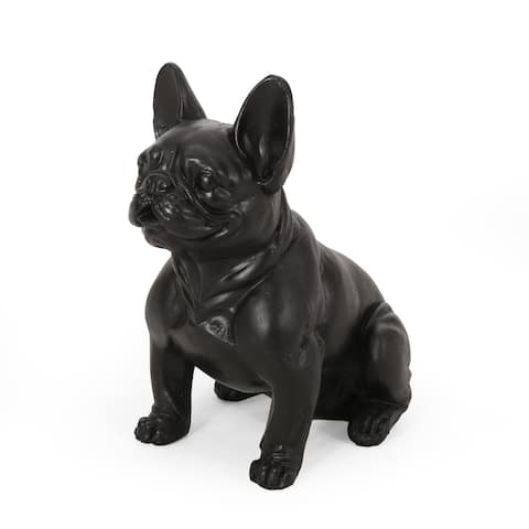 Delamore Outdoor French Bulldog Garden Statue by Christopher Knight Home