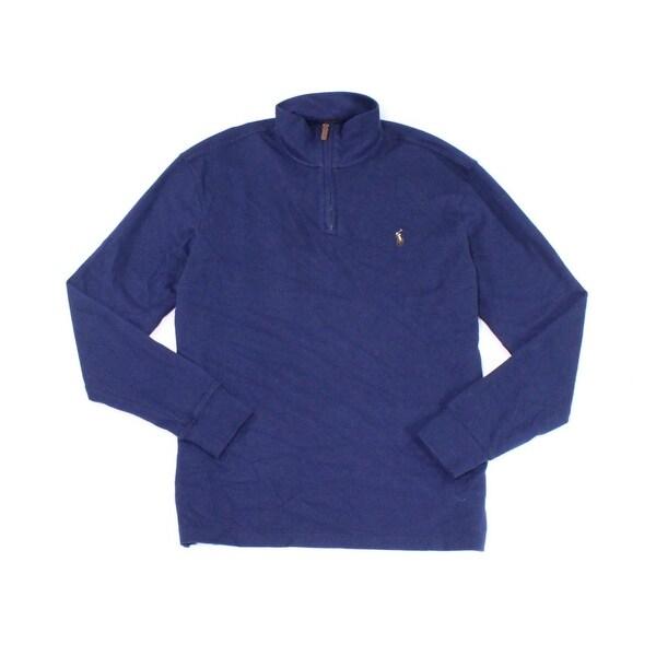 Shop Polo Ralph Lauren NEW Blue Navy Mens Size XS 1 2 Zip Ribbed ... 1943bd9577b5