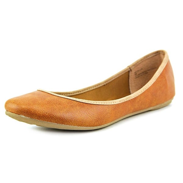 American Rag Cellia Women Round Toe Synthetic Tan Flats