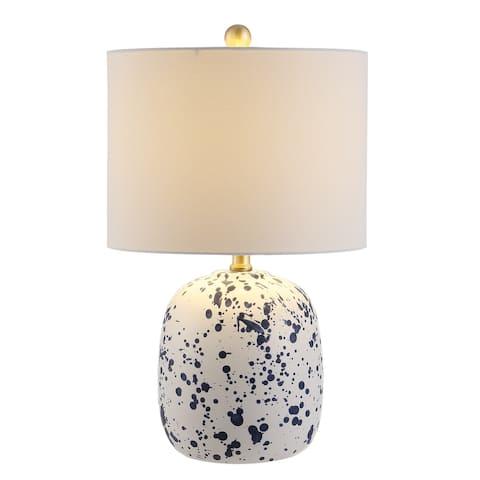 "SAFAVIEH Lighting 19.25-inch Wallace Ceramic Table Lamp - 12"" x 12"" x 19.3"""