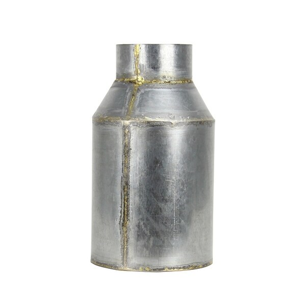 "Brewster FADX9071C Habitat Lars 10"" Tall Small Metal Vintage Milk Jug Vase - Metallic"