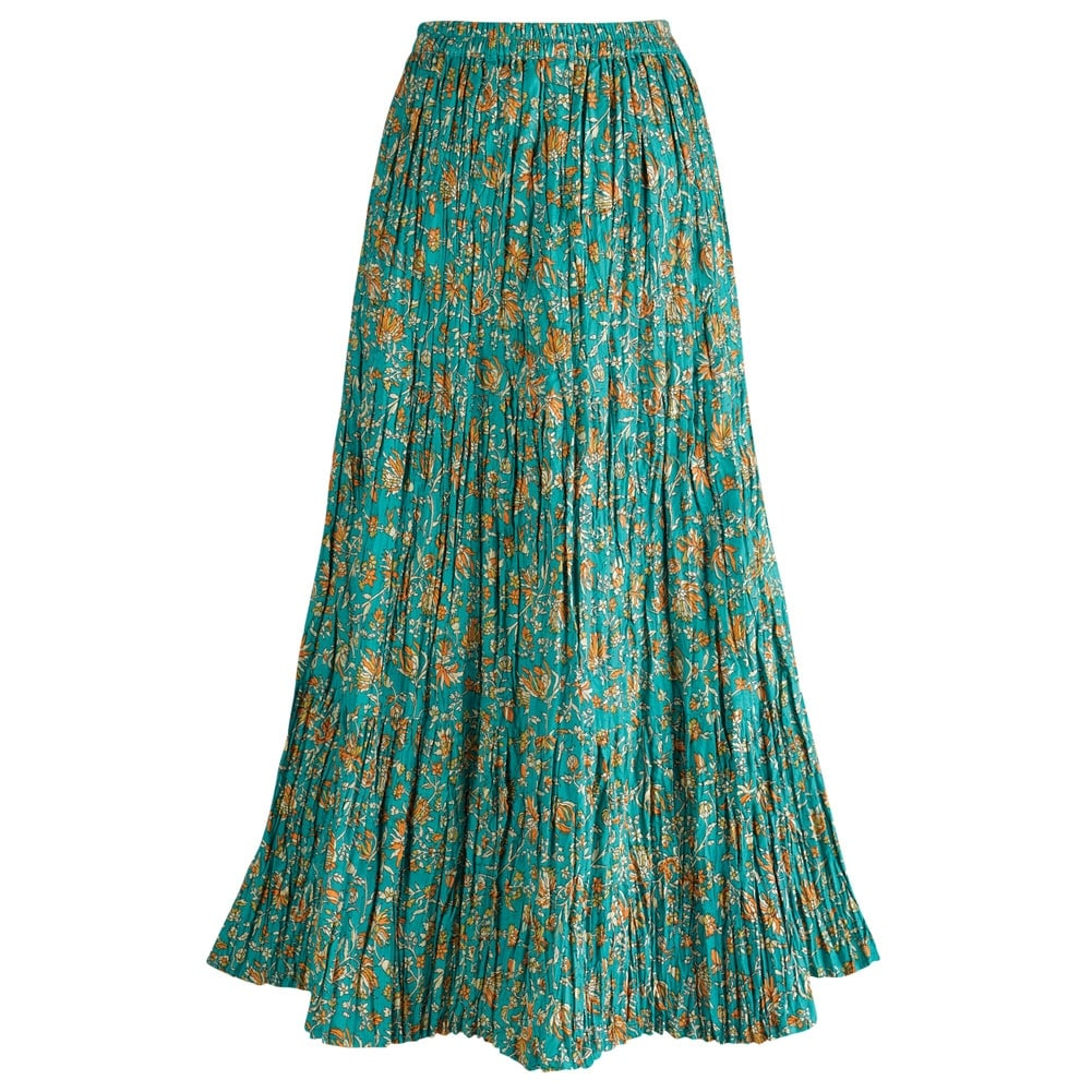 newest collection cheap for sale good out x Shop Women's Long Reversible Peasant Skirt - Boho Floral Green ...