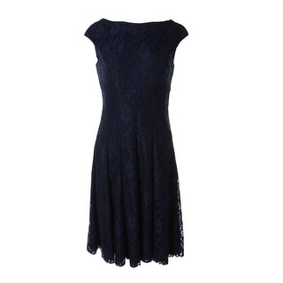 Lauren Ralph Lauren Womens Lace Knee-Length Cocktail Dress