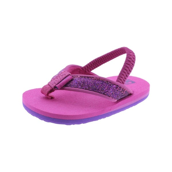 2f28e99624ae Shop Teva Mush II Flip Flops Glitter Baby Girls - Free Shipping On ...